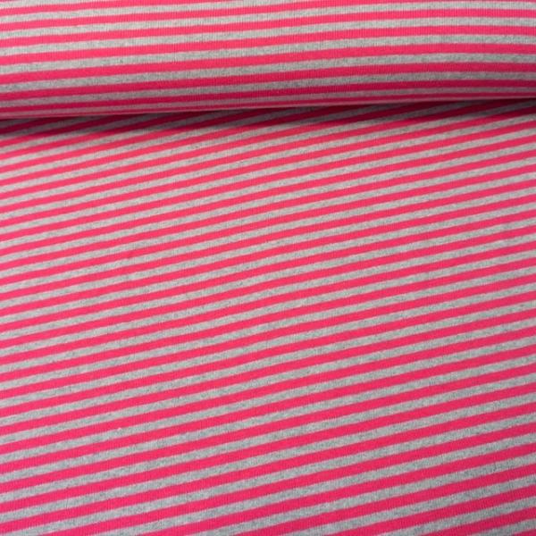 Feiner Ripp-Baumwolljersey angeraut pink-anthra