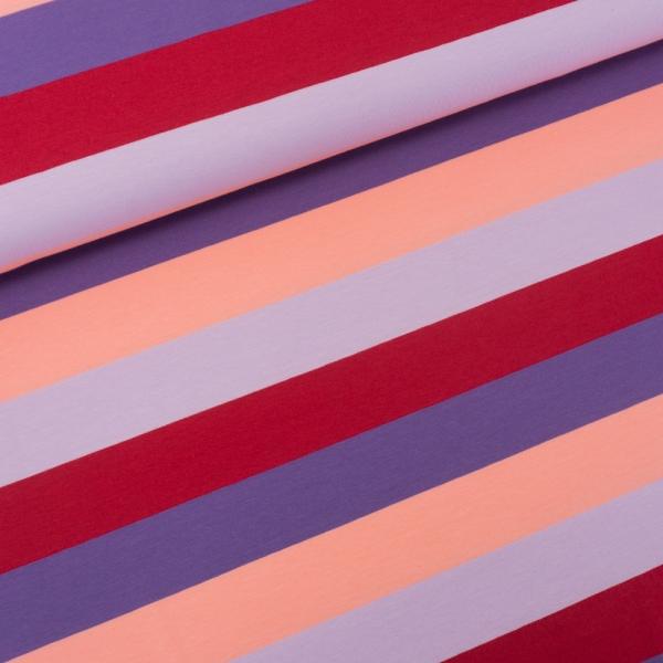 Baumwolljersey Big Stripes bordeaux