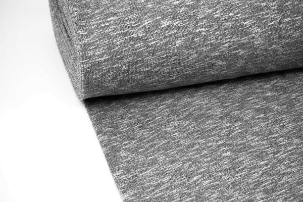 Vintage Sweat Basic anthra-melange elastisch angeraut