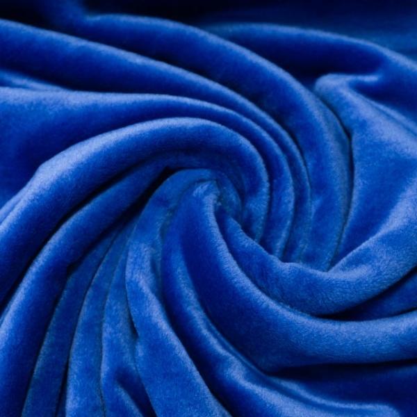 Velvet Samt-Sweat angeraut elastisch royalblau