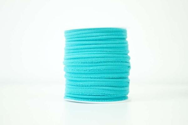 Jersey Paspelband petrol-hell elastisch