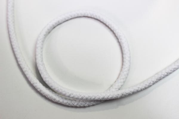 8mm Kordel geflochten weiß Baumwolle