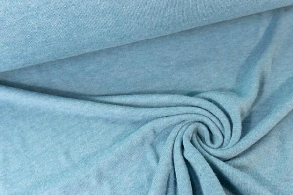 Strick-Jersey Angorastyle jeansblau hell - super kuschelig Ökotex 100