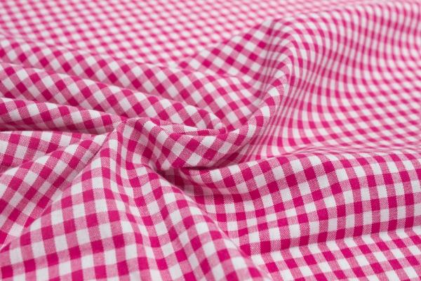 Baumwolle Vichy klein pink/weiß Öko Tex 100