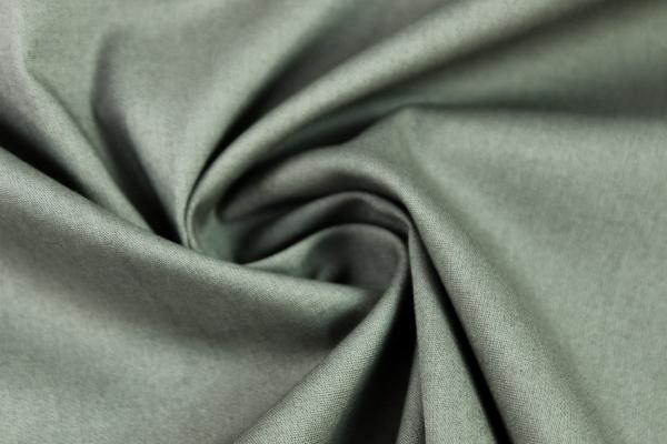 Baumwolle Poplin Stretch Uni knitterarm khaki Ökotex 100