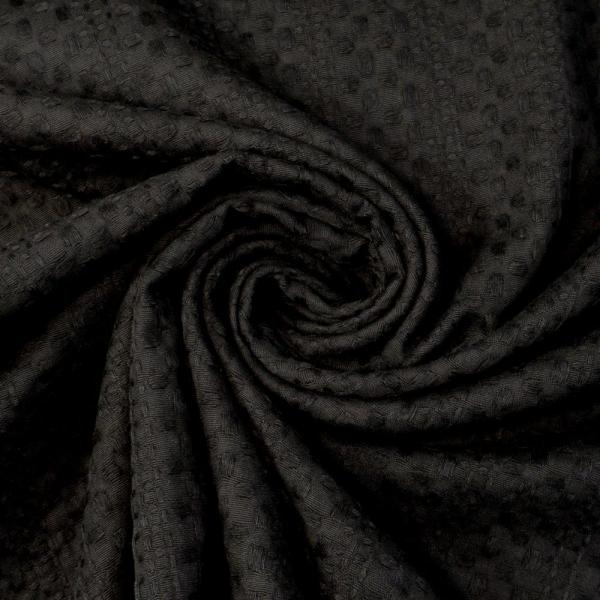 Waffelpique schwarz