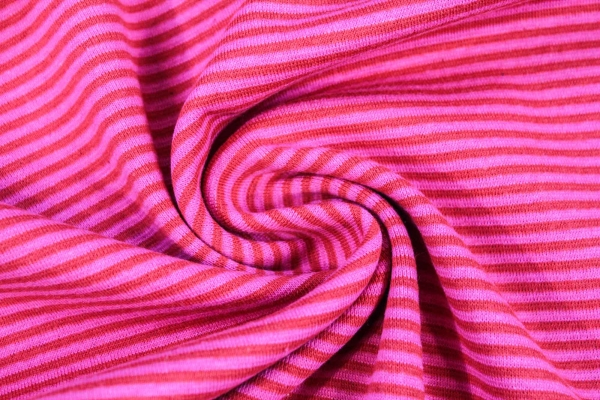 Ringel Bündchen Feinstrick rot-pink Ökotex 100