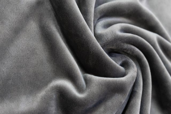 Velvet Samt-Sweat elastisch grau Ökotex 100