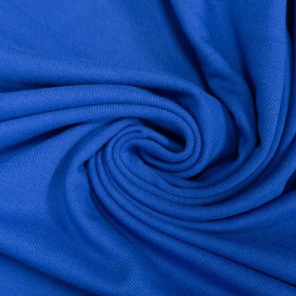 Poloshirt Baumwolljersey Uni königsblau Ökotex 100