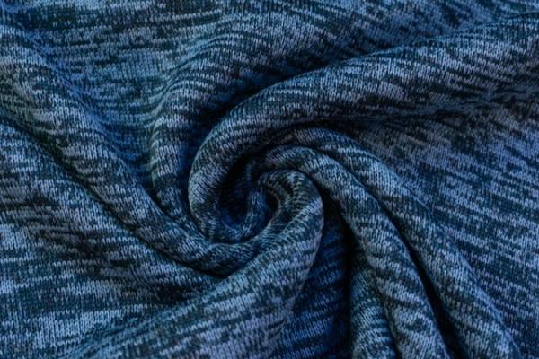 Nakatana Strick Fleece melange jeansblau dunkel