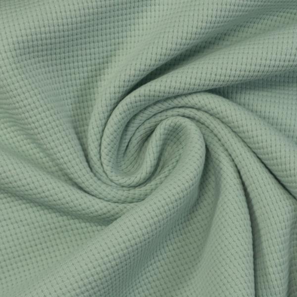 Waffelstrick Jersey Uni mint