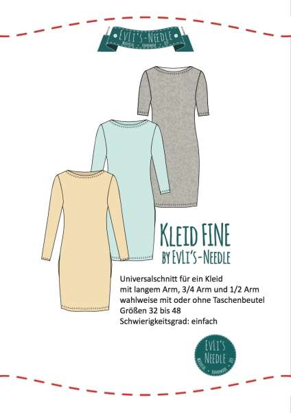 "Papierschnitt Kleid ""FINE"" by EvLi's-Needle"