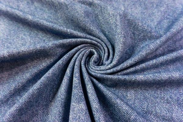 Sweat French Terry Jeanslook UNI jeansblau hell Ökotex 100
