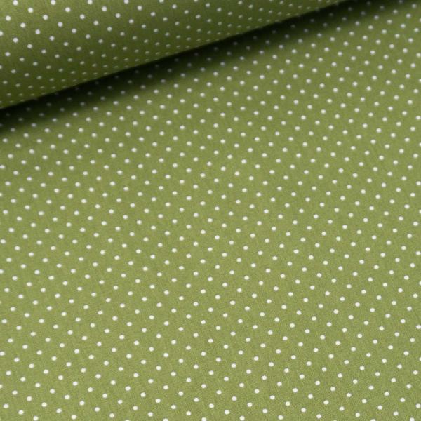 Baumwolle/Webware Petit Dots oliv Ökotex 100