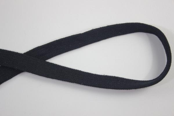 14mm Hoodie Kordel Flachkordel schwarz Baumwolle Ökotex 100