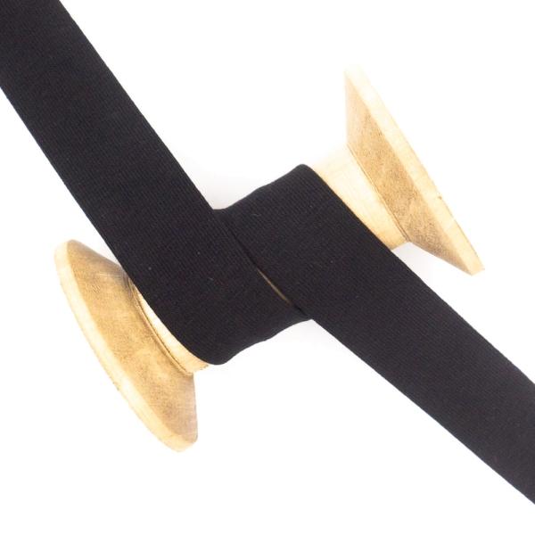 Jersey Schrägband Deluxe schwarz