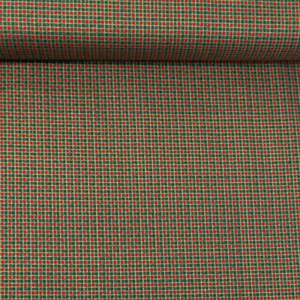Baumwollwebware Christmas Checks tannengrün