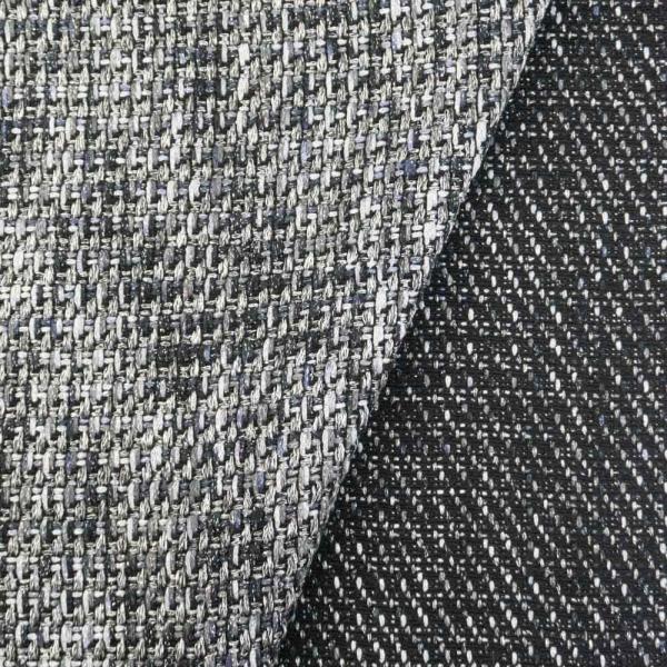 Tweed Glam schwarz-silber