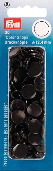 Prym Color Snaps dunkelbraun rund 12,4mm