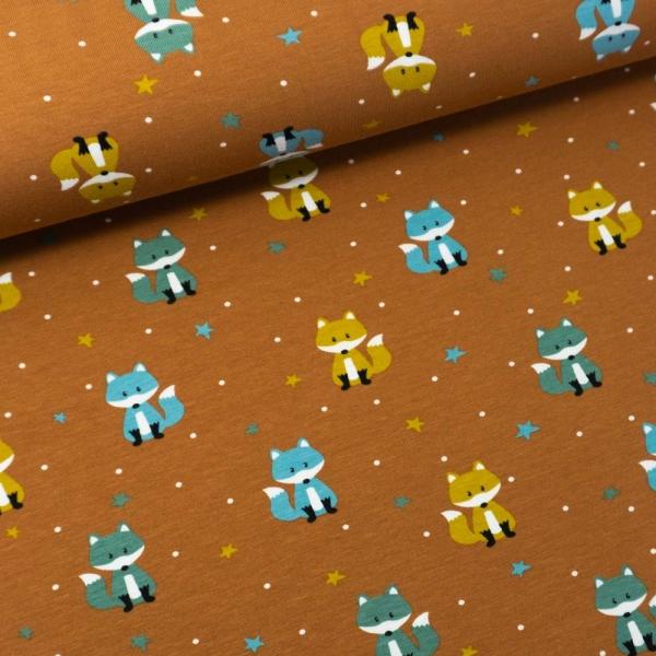 Baumwolljersey Little Fox terra