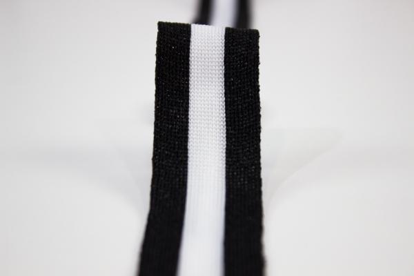 Galonband Glam schwarz-weiß Ökotex 100