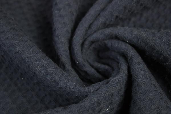 Waffelpiqué navy 100% Baumwolle weich Ökotex 100