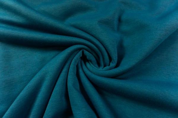 Wellness Jersey-Sweat angeraut jeansblau dunkel Ökotex 100