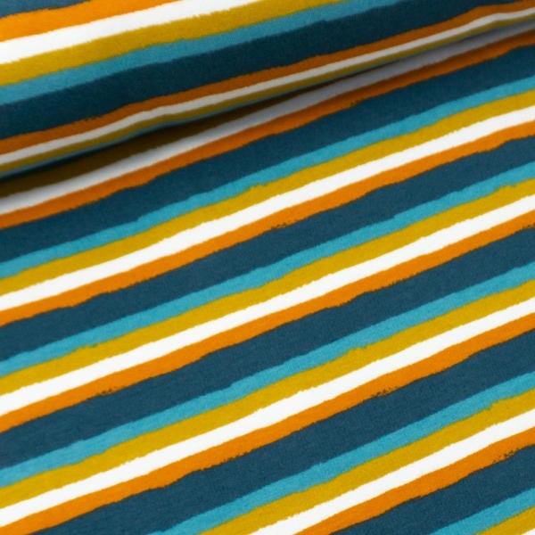 Sweat French Terry Retro Stripes dusty mint