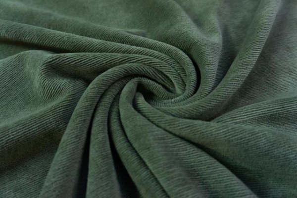 Jersey Feincord Baumwolle khaki ÖkoTex 100